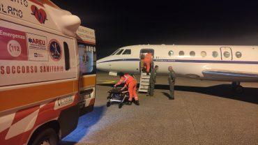 Aeronautica Militare_soccorso aereo Reggio Calabria Milano